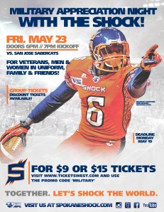Military Appreciation Night with the Shock with Promo Code - 23 May 2014    (3)