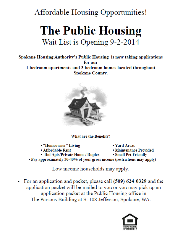 Public Housing Waiting List Is Still Open Infolink