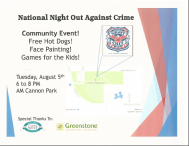 west central night out against crime