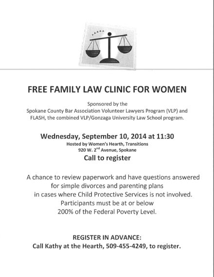 free family law clinic for women