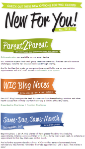 new changes for wic