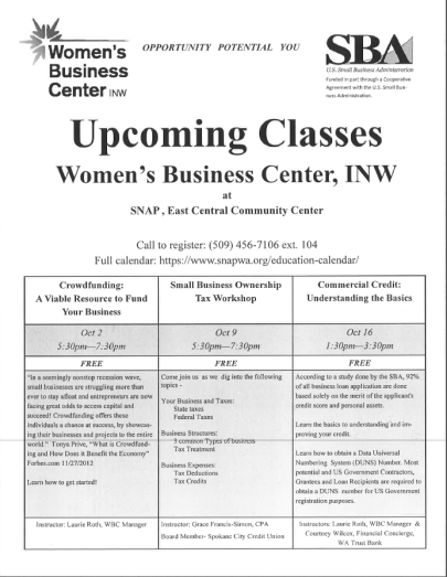 women's business center oct classes