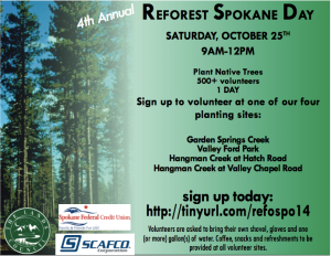 Reforest Spokane Day