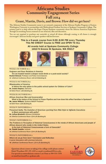 africana studies community engagement series
