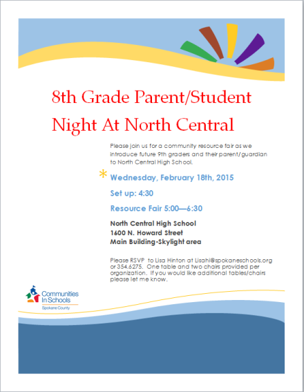 8th grade parent-student night