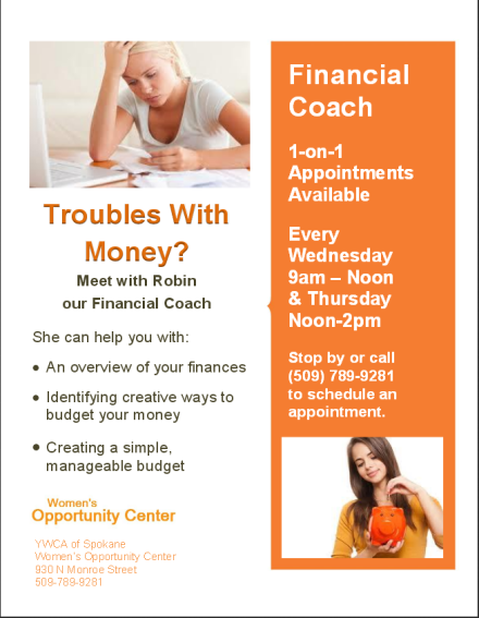 women opp financial counseling