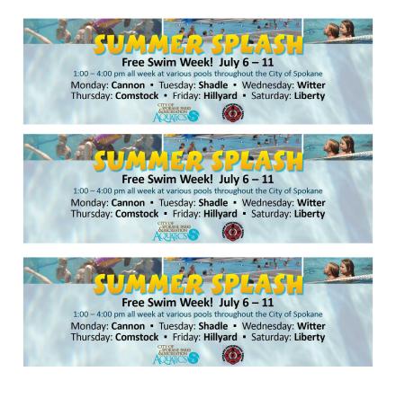 Free Swim Week 2015