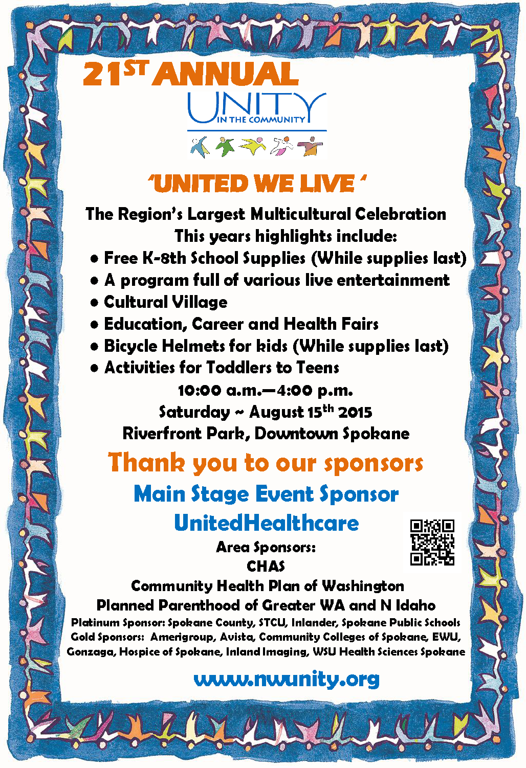 unity in the community Our team of professionals work together to offer a comprehensive approach to hospice care, treatment plus, grief support and community education, since 1977.